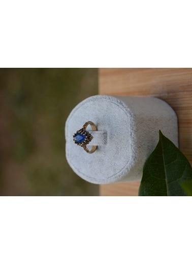Stoneage Safir Taşlı Ayarlanan Otantik Yüzük Mavi